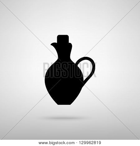 Amphora sign. Black with shadow on gray.