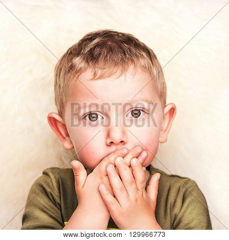 fine portrait of caucasian child