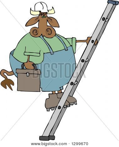 Cow On A Ladder