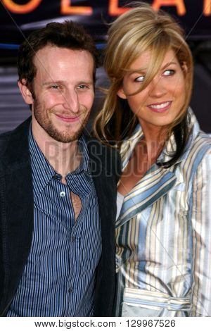 Bodhi Elfman and Jenna Elfman at the Los Angeles premiere of 'Collateral' held at the Orpheum Theatre in Los Angeles, USA on August 2, 2004.