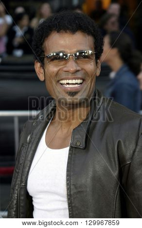 Mario Van Peebles at the Los Angeles premiere of 'Collateral' held at the Orpheum Theatre in Los Angeles, USA on August 2, 2004.