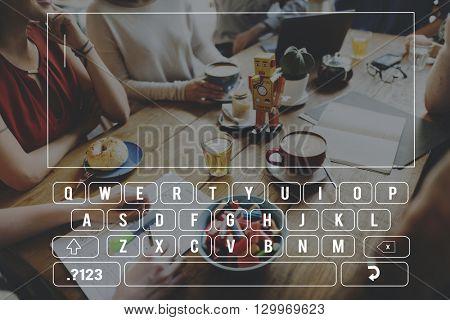 Keyboard Computer Digital Communication Input Concept