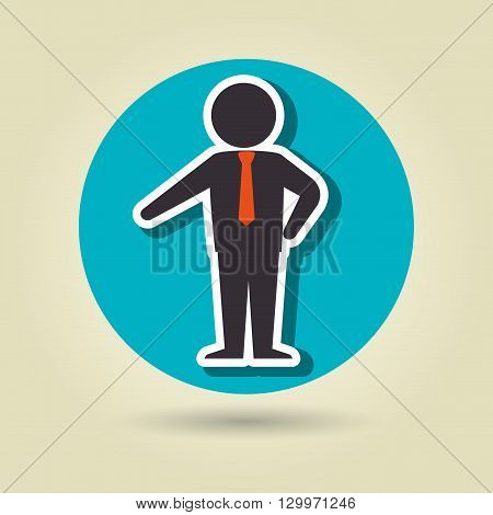 businessman isolated design, vector illustration eps10 graphic
