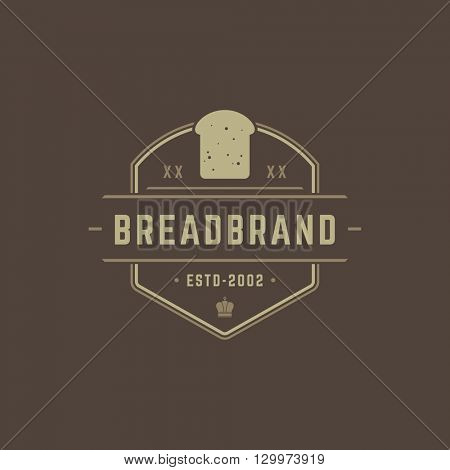 Bakery Shop Logo Template.