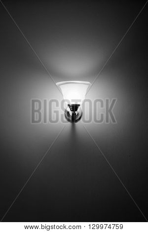 Wall lamp black and white in room