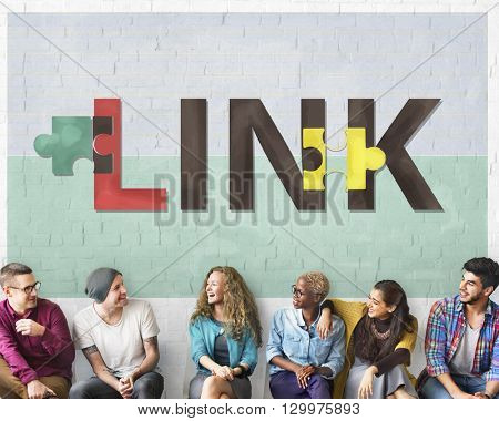 Link Connection Linkage Network Online Concept