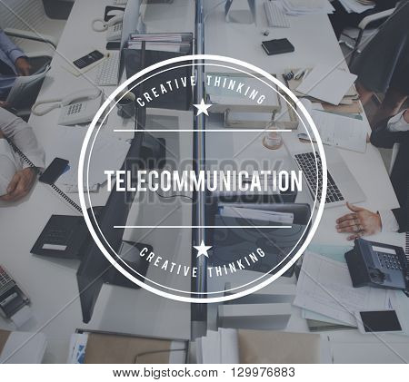 Telecommunication Connection Networking Technology Concept