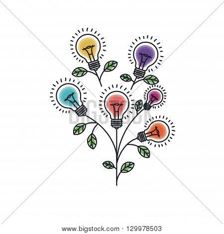 bulb light icon  design, vector illustration eps10 graphic