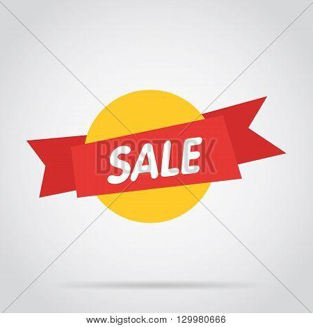 Sale vector banner. Promo offer. Sale sticker. Discount sticker. Special offer sale sticker in flat style. Discount tag. Special offer banner. Sale sign. Web sale sticker. Sale label. Ad sticker. Sale sticker template. Design of ad offer. Sale tag. Sale.