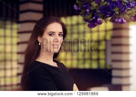 Portrait of a Beautiful Summer Sylish Woman