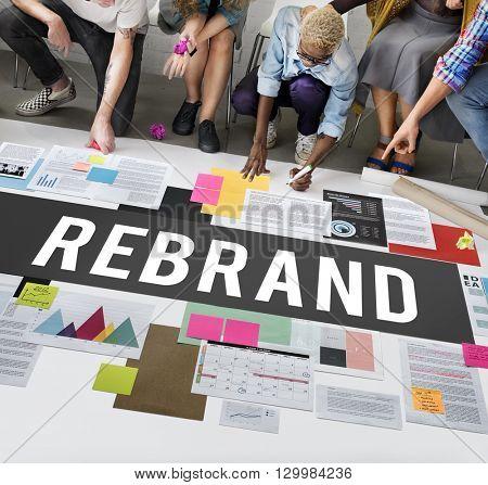 Rebrand Change Corporate Identity Marketing Concept
