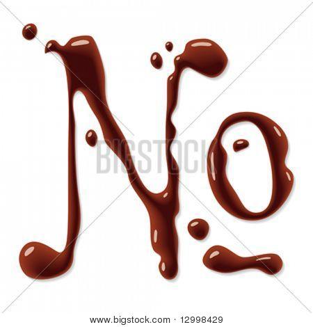 Chocolate numero sign
