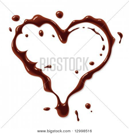 Chocolate heart symbol
