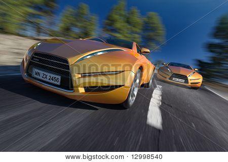 Race. Non-branded concept car.