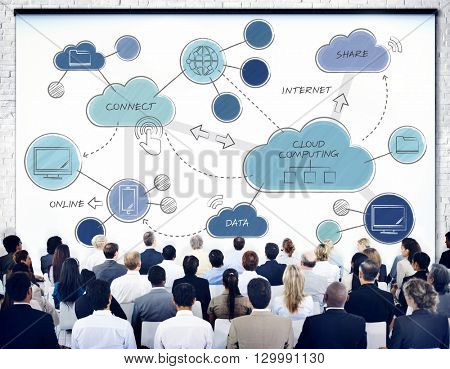 Cloud Computing Networking Connecting Concept