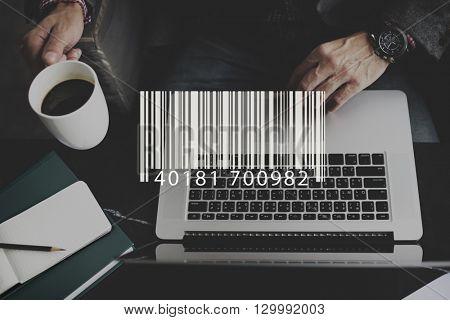 Bar Code Electronic Label Laser Logistics Scanner Concept