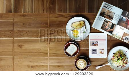 Breakfast Food Cafe Delicious Contemporary Concept