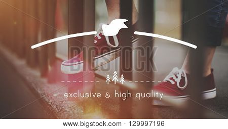 Exclusive and High Quality Brand Marketing Copy Space Concept