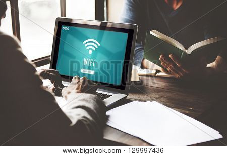 Internet Wifi Connection Access Hotspot Concept