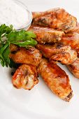 picture of baste  - Chicken wings with sauce - JPG