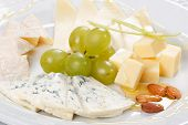 foto of italian food  - plate of cheese - JPG