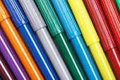 stock photo of non-permanent  - Multicolored Felt - JPG