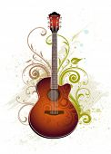 foto of acoustic guitar  - Acoustic guitar - JPG