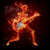 Guitarist - Series of fiery illustrations