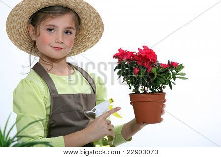 A young florist