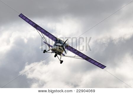 Private Airplane In Flight