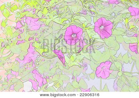 Pink Petunias Pastel