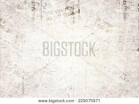 poster of Vintage Grunge Newspaper Paper Texture Background. Blurred Old Newspaper Background. A Blur Unreadab