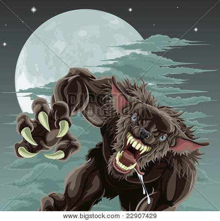 Werewolf Moon Illustration