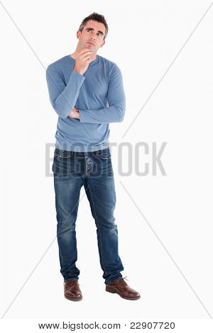 Doubtful man posing