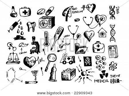 Hand Drawn Medical Symbols