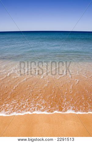 Perfect Beach Golden Sand Blue Sky