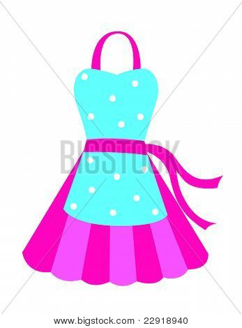 Blue and pink apron
