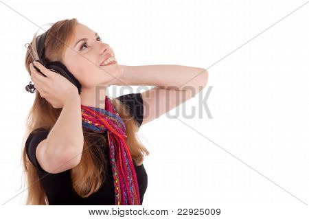 Girl Gets Pleasure From Music