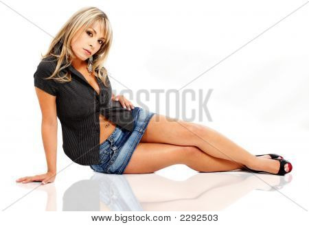 Blonde Fashion Woman Modelling