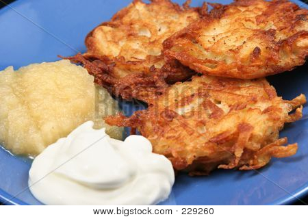 Potato Latkes Closeup