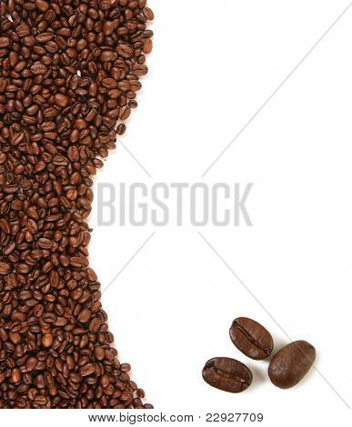 brown frame with coffee beans