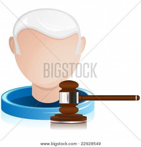 Senior Judge With Justice Gavel