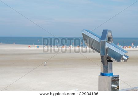 Binocular At The Beach