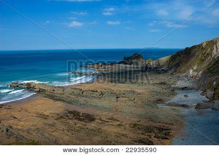 Rocky Beach And Cliffs