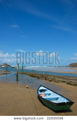 Small Boat On A Beach