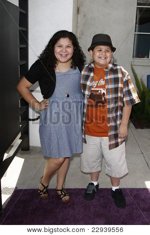 BURBANK - MAY 2: Raini Rodriguez and Rico Rodriguez at the Lollipop Theater Network's second annual ''Game Day'' at the Nickelodeon Animation Studios in Burbank, California on May 2, 2010