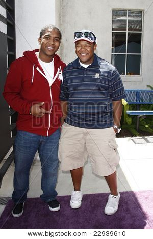 BURBANK - MAY 2: Christopher Massey and Kyle Massey at the Lollipop Theater Network's second annual ''Game Day'' at the Nickelodeon Animation Studios in Burbank, California on May 2, 2010