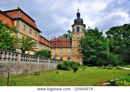 Nature Of Summer Park Of Schloss Fasanarie In Fulda, Hessen, Germany