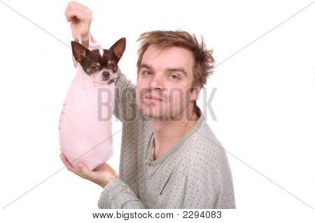 Man And Chihuahua