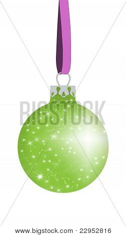 Light green Christmas ball